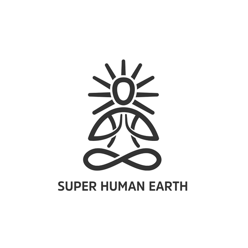 Holistic logo with the title 'Create a logo for the Super Human Earth movement'