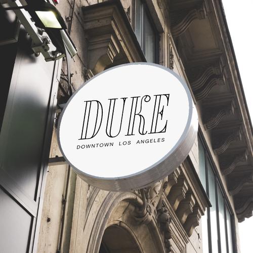 LA logo with the title 'Duke LA Logo Concept'