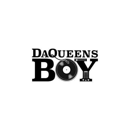 Rap logo with the title 'DaQueensBoy'