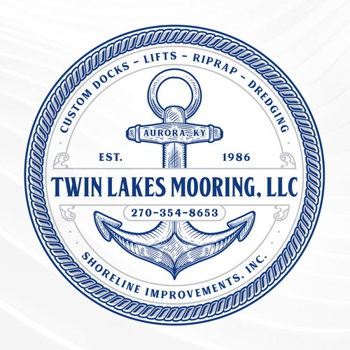 Rope design with the title 'TWIN LAKES MOORING, LLC'