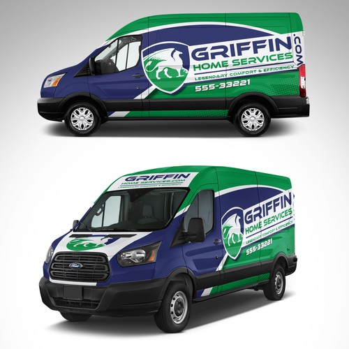 Cooling design with the title 'Griffin Home Services full Wrap design'