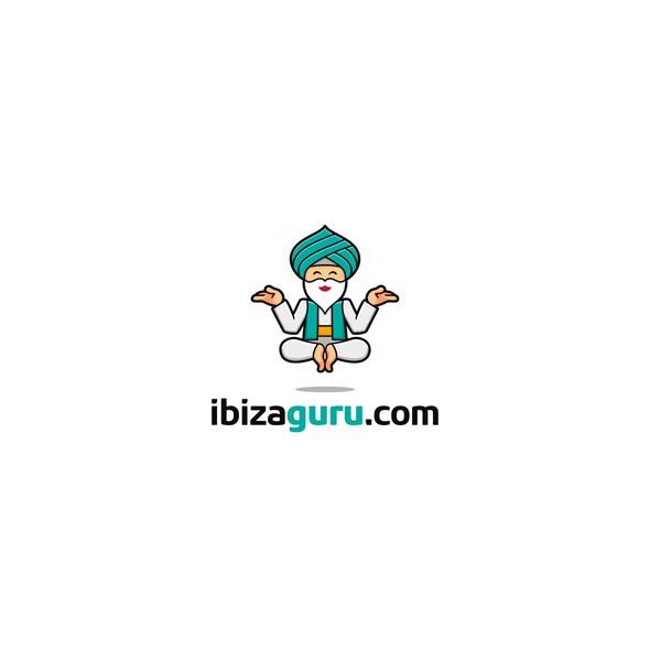 Guru logo with the title 'Ibizaguru logo design'