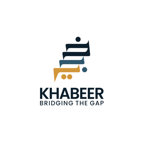 App icon logo with the title 'Design a logo for Khabeer'