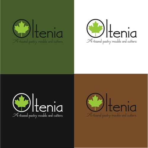 Canadian leaf logo with the title 'Oltenia-Artisanal pastry moulds and cutters'
