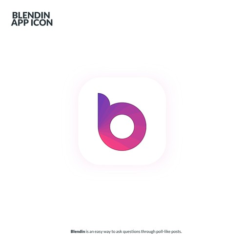 Blend design with the title 'BlendIn App Icon'