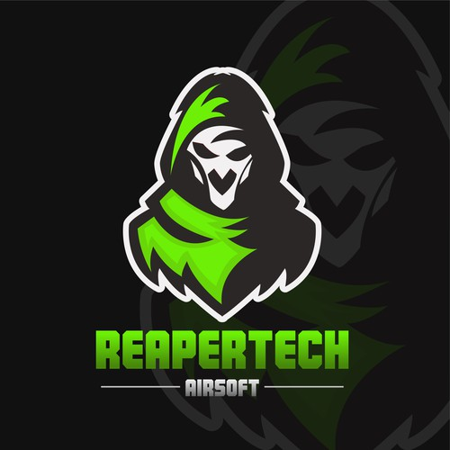 Grim reaper logo with the title 'Mascot Logo'