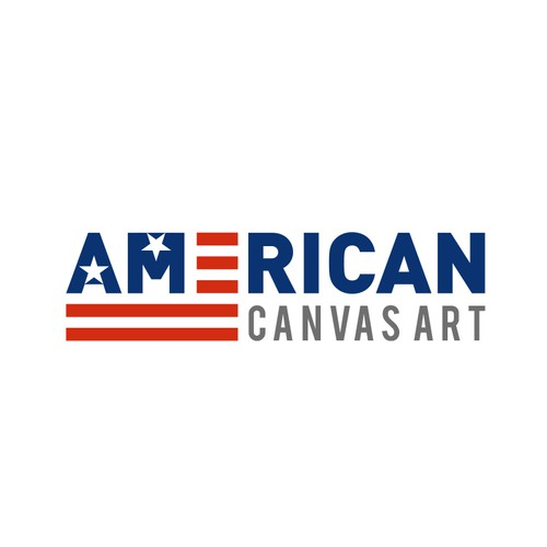 USA logo with the title 'A Patriotic Themed Logo for Wall Art Site'