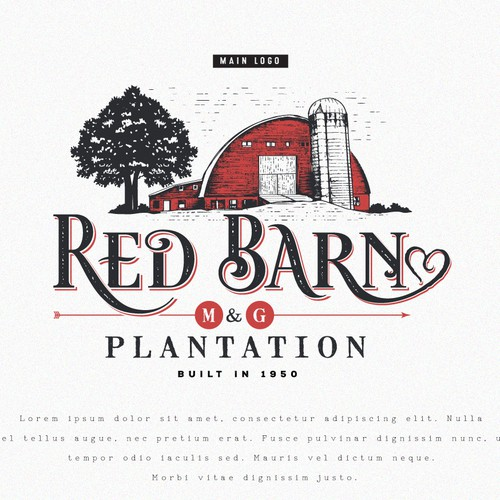 Wedding photography logo with the title 'Logo for Red Barn Plantation'