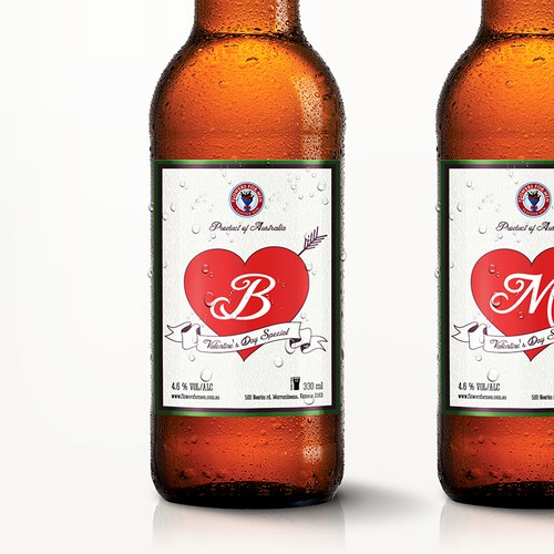 Valentine design with the title 'Limited Edition Beer Labels'