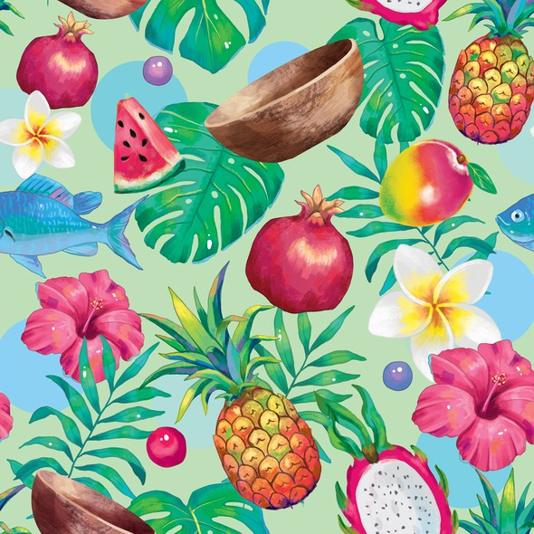 Tropical brand with the title 'Tropical Logo and brand pattern'