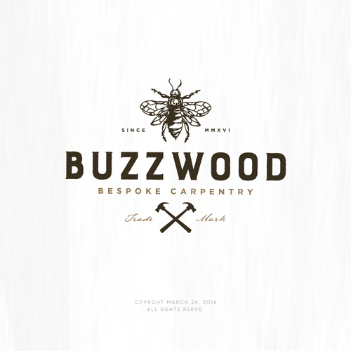 Carpentry design with the title 'Logo design for Buzzwood'