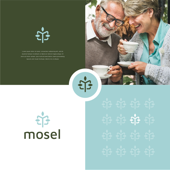 Leaf design with the title 'mosel'