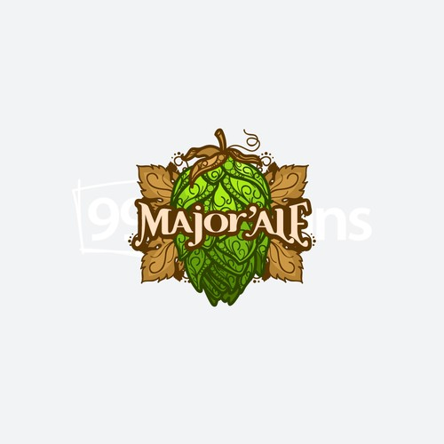 Ale logo with the title 'Hops Beer'