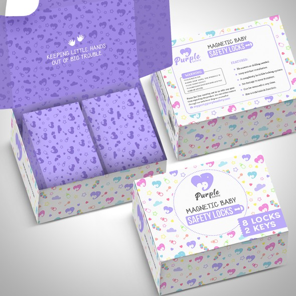 Clothing packaging with the title 'package and Logo design'