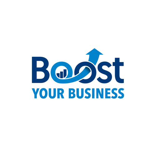 Graph design with the title 'Logo design for Boost Your Business'