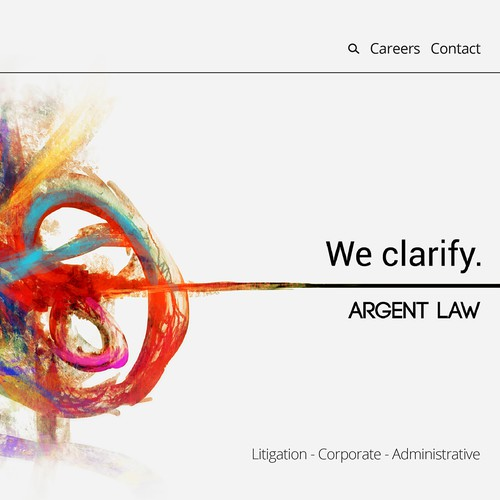 Texture illustration with the title 'Law Firm Landing Page'