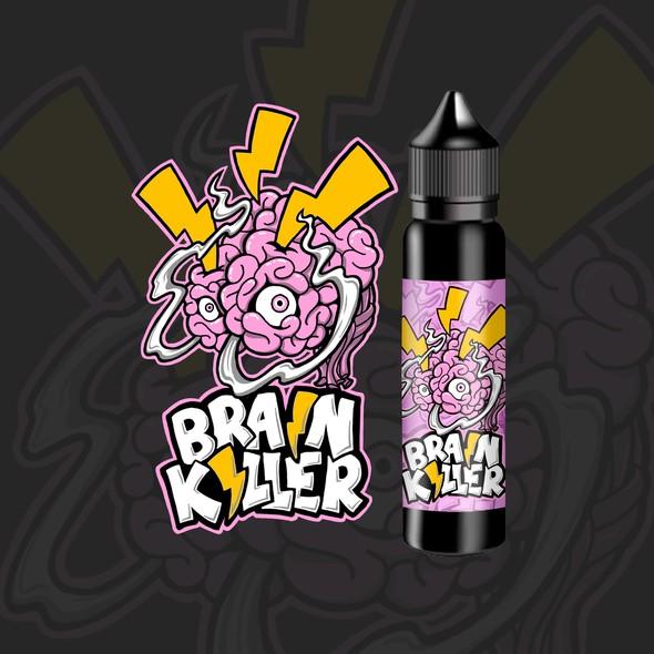 Freehand design with the title 'vape liquid logo design'