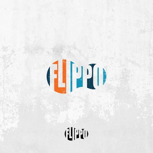Flip flop design with the title 'Minimalist logo for FlipFlops'