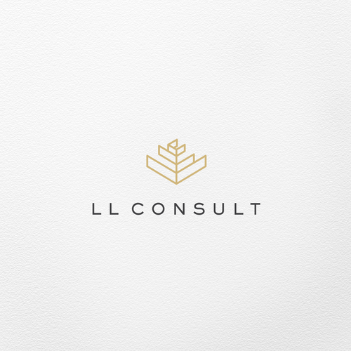 Minimalist brand with the title 'Logo for LL Consult'