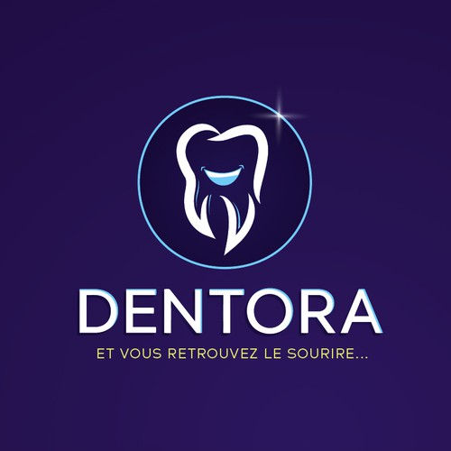 Teeth design with the title 'Dentora'