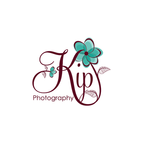 Flower wreath logo with the title 'floral swirly logo '