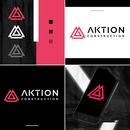 Construction logo with the title 'AKTION'