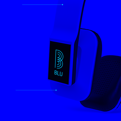 Wireless logo with the title 'Bold Logo for Wireless B Letter'