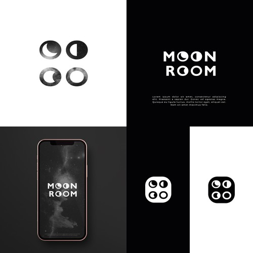 Ethereum logo with the title 'MoonRoom'