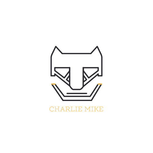 Slab serif logo with the title 'Logo Concept for Charlie Mike White Version'