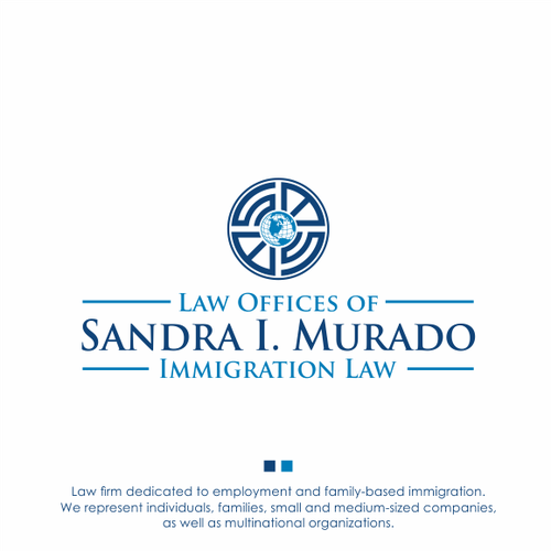 Immigration logo with the title 'Law Offices of Sandra I. Murado'