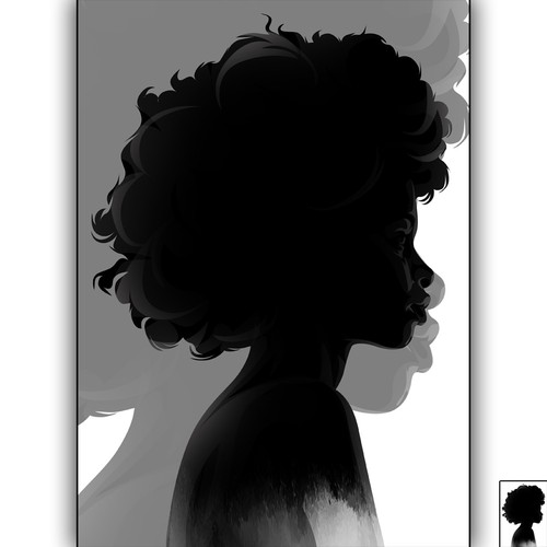 Silhouette artwork with the title 'Black Girl poster'