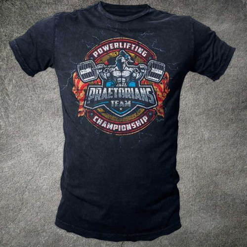 Distressed t-shirt with the title 'T shirt for Powerlifting'