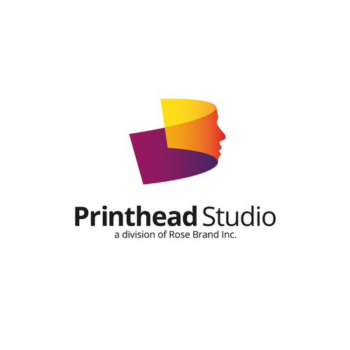 Textile design with the title 'Logo for Printhead Studio'
