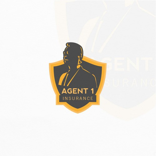 Shadow brand with the title 'Logo for Insurance Agent'