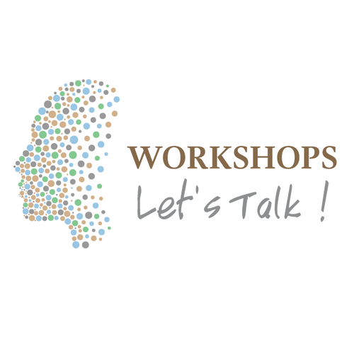 Dot logo with the title 'Face design - Let's Talk !'