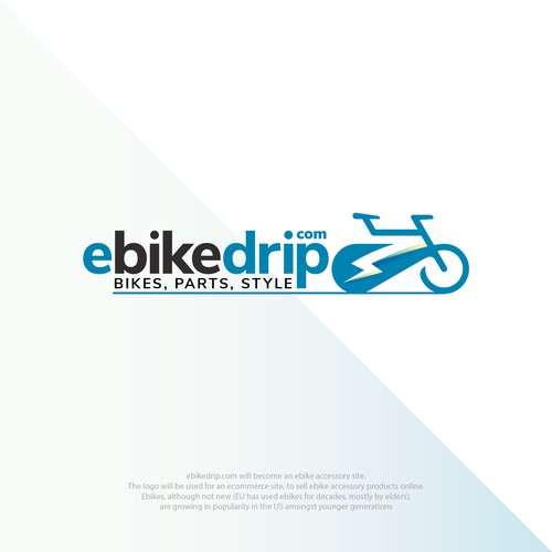 Thunderbolt logo with the title 'Ebikedrip'