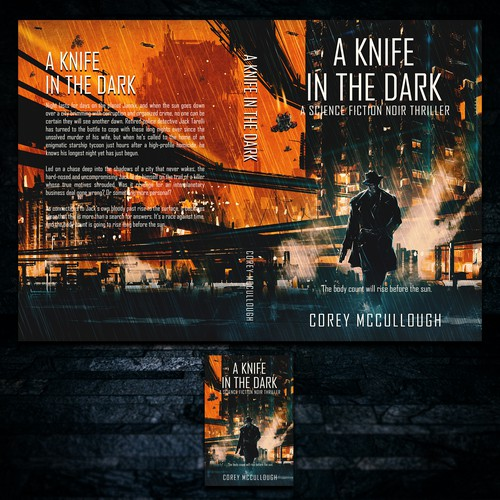 Crime book cover with the title 'A Knife in the Dark'
