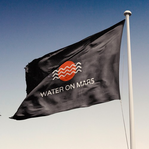 Exploration logo with the title 'Water On Mars Logo Concept'