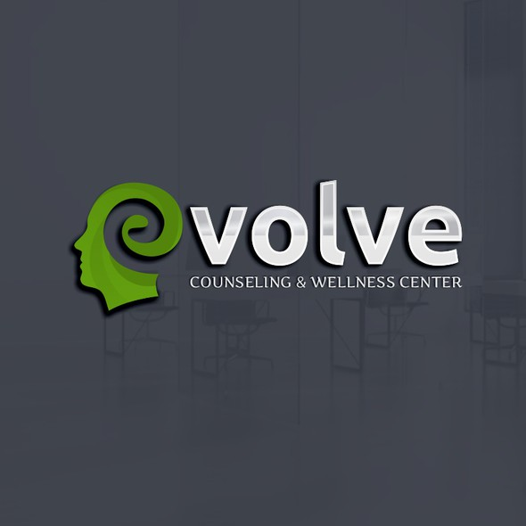 Therapeutic logo with the title 'Evolve Logo Design'