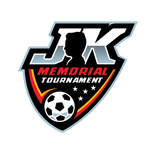 Football logo with the title 'JK Memorial Tournament'