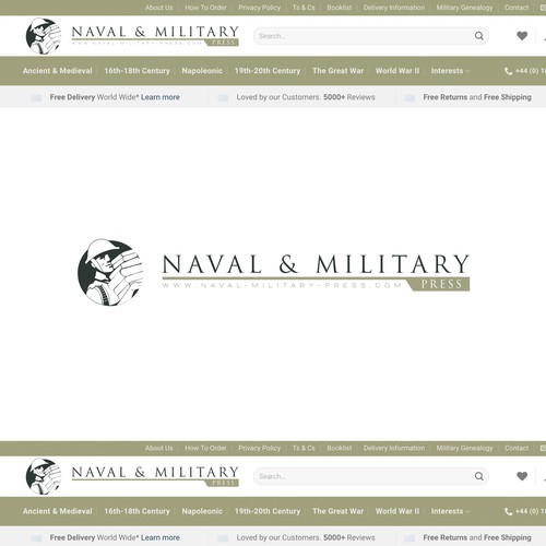 Soldier logo with the title 'Naval & Military press'