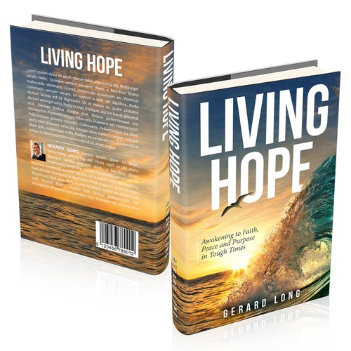 Faith design with the title 'Living Hope Cover'