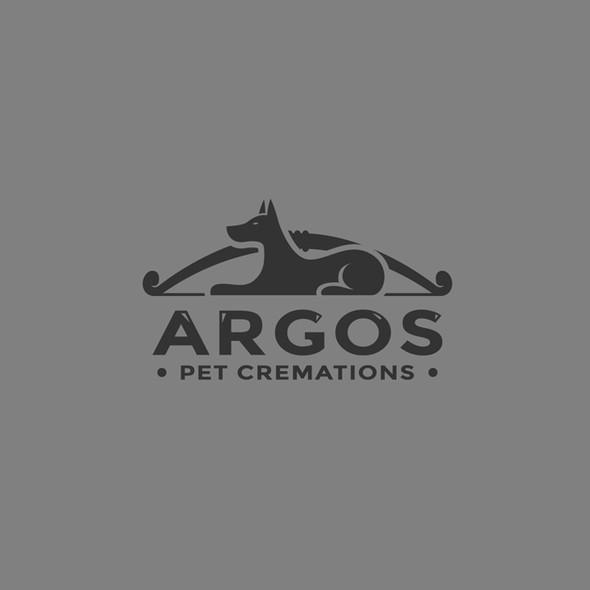 Memorial logo with the title 'Argos Pet Cremation'