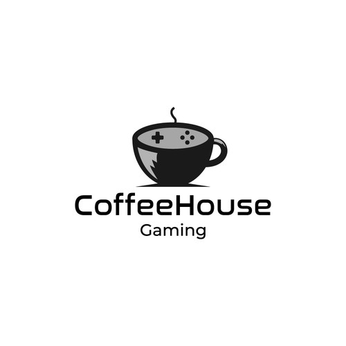 Console design with the title 'Coffee House Gaming'