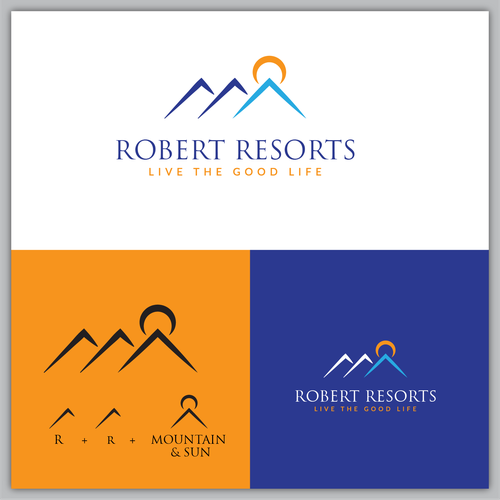 Vacation rental logo with the title 'Robert Resorts'