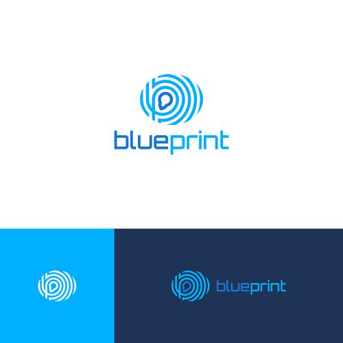 Fingerprint design with the title 'Blue fingerprint'