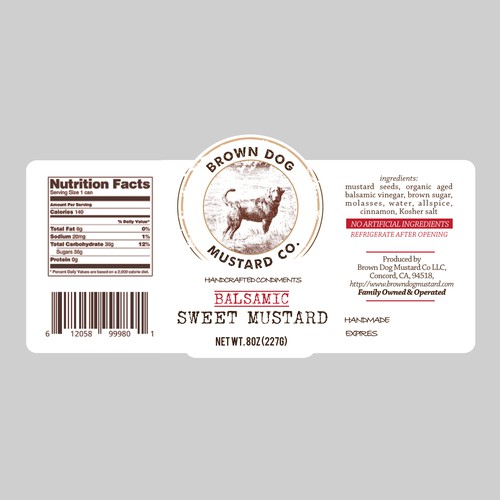 Artisan label with the title 'Guaranteed! Design an eye catching yet essentially artisan label!'