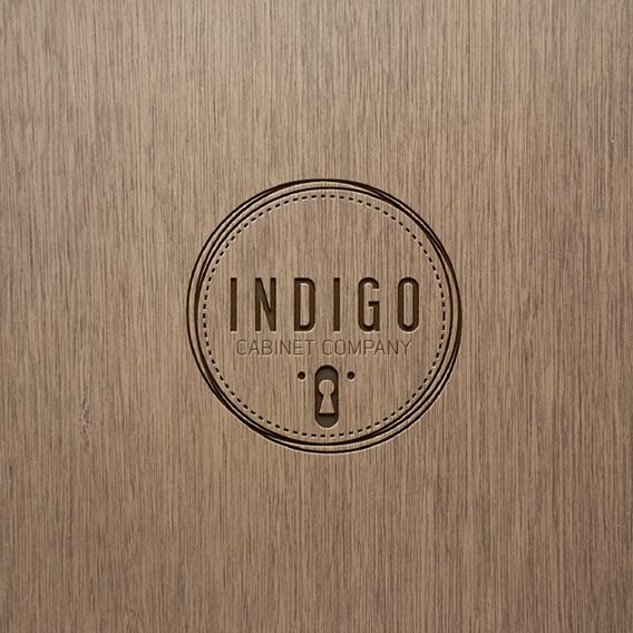 Cabinet design with the title 'INDIGO Cabinet Company'