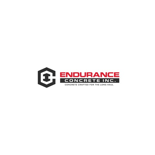Concrete design with the title 'Bold logo concept for Endurance Concrete Inc.'