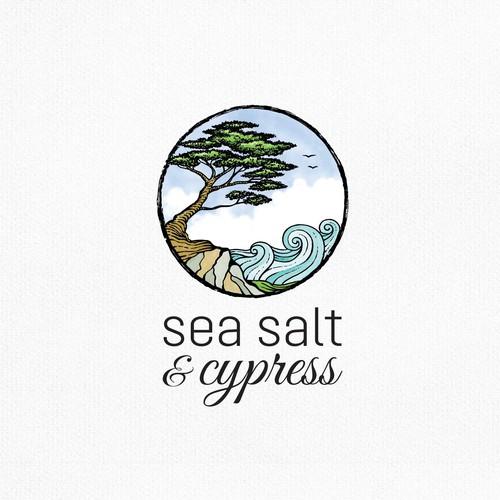 Birch logo with the title 'sea salt & cypress'